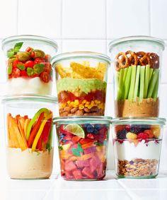 Snack Recipes - Easy Mason Jar Snacks Ideas