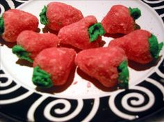 Christmas Strawberries from Food.com:   This strawberry shaped confection is a tasty and pretty addition to your Christmas trays.