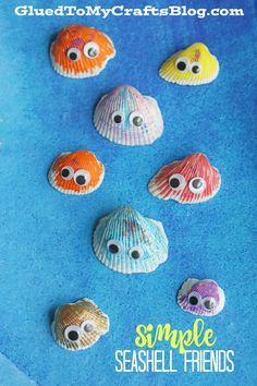 Summer Fun Adorable Simple Seashell Friends - Kid Craft