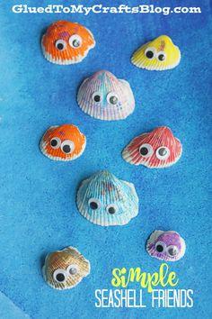 Summer Fun Adorable Simple Seashell Friends - Kid Craft