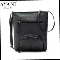 53.00$  Buy now - http://aliais.worldwells.pw/go.php?t=32757397626 - AYANI Brand 100% Women crossbody bags leather soft bag bucket high quality messengers small lady FS2215