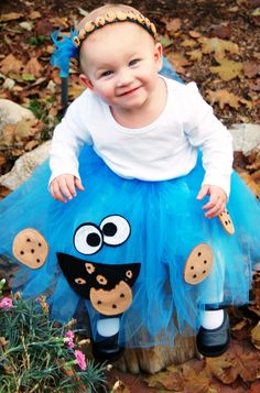 Cookie Monster I love the headband Purim Costumes, Family Halloween Costumes, Baby Costumes, Halloween Outfits, Halloween Themes, Halloween Fun, Cookie Monster Party, Monster Costumes, Love My Kids