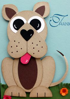 AnnMarie's Stamping Adventures!!:Cute punch art dog