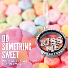 Do something sweet this Valentines Day with an Origami Owl Living Locket. <3