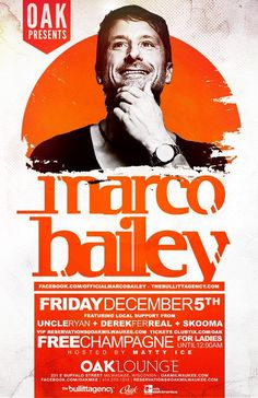 Marco Bailey at Oak Lounge Milwaukee Friday December 5th - www.oakmilwaukee.com for more details