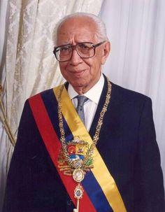 VENEZUELA: Dr. Ramón J. Velázquez (1916-2014). Abogado, Historiador y Periodista. Presidente de la República de Venezuela (1993-1994).