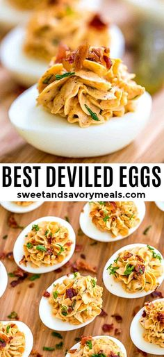 Best ever Deviled Eggs recipe with pickles, bacon, green onion and paprika. Eggs Best Ever Deviled Eggs Best ever Deviled Eggs recipe with pickles, bacon, green onion and paprika. Eggs Best Ever Deviled Eggs Best Deviled Egg Recipe Ever, Pickled Deviled Eggs Recipe, Devilled Eggs Recipe Best, Bacon Deviled Eggs, Scrambled Eggs, Bacon Appetizers, Easy Appetizer Recipes, Appetizers For Party, Best Appetizers Ever
