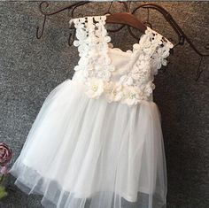 2016 Flower Cotton Lace Girls Dress 3 to Casual Hot Summer Party Dress for Girls Children striped dress corsage tutu dress Dress For Girl Child, Girls Lace Dress, Daisy Dress, Flower Dresses, Tulle Dress, Girls Dresses, Tulle Tutu, Long Dresses, Dress Lace