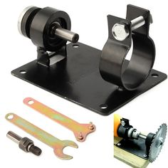 1 Set 10 mm 13mm Electric Drill Cutting Seat Stand Machine Bracket Rod Bar Table+2 Wrench