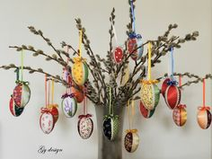 You pick Happy Easter egg set of 6 fabric hang up eggs by Gydesi