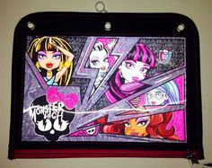 Monster High Pencil  And School Supplies Case Attaches Inside Binder NEW Pouch