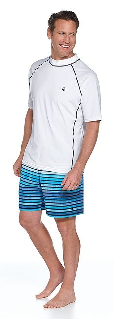 Short Sleeve Swim Shirt & Surf Swim Trunks Outfit