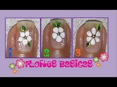 ♥Flores Básicas para uñas♥/Flores FÁCILES/ basic flowers for nails - YouTube Manicure Y Pedicure, Allrecipes, You Nailed It, Food Inspiration, Simple Designs, Hair And Nails, Nail Designs, Nail Art, Flowers