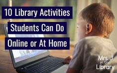 If your school is starting virtual, remote, or distance learning due to the spread of the coronavirus, use these online activities in your library lessons. Preschool Library, Library Activities, Preschool Bulletin, Learning Activities, Reading Resources, Middle School Libraries, Elementary School Library, Elementary Schools, Library Lesson Plans