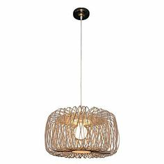 Amazon.com : Bamboo Pendant Light with 1 Light : Lamps & Light Fixtures