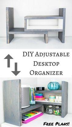 'DIY Adjustable Desktop Organizer...!' (via The Handyman's Daughter)