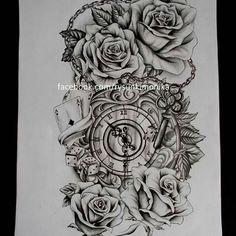 Only thing missing is hour glass, gun, brass knuckles, money. Flame Tattoos, Leg Tattoos, Body Art Tattoos, Tattoo Drawings, Tatoos, Wolf Tattoo Sleeve, Tribal Sleeve Tattoos, Trendy Tattoos, Small Tattoos