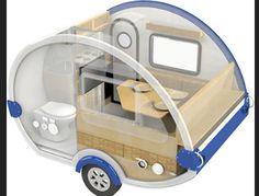 TaB S Max Package - Teardrop Camper/Trailer - Little Guy Teardrop Trailer Interior, Building A Teardrop Trailer, Teardrop Caravan, Teardrop Camper Trailer, Camper Trailers, Airstream Interior, Vintage Airstream, Vintage Campers, Rv Campers