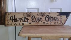 Wood burned Wedding Sign
