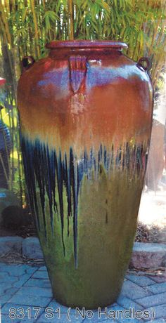 Glazed Pottery And It S Beauty Landscape Pinterest Planters Garden Outdoor