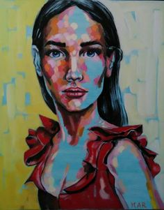 """Saatchi Art Artist Magdalena Ana Rosso; Painting, """"Red carpet"""" #art"""