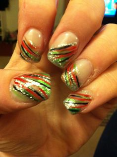 Christmas/new year's nail design