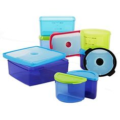 Fit & Fresh Kids' Healthy Lunch Set, 17-Piece Value Reusable Portion Control Container Set with Removable Ice Packs and Sandwich Box, Leak-Proof, BPA-Free * Check out this great product.