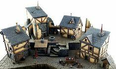 Fantasy Village, Fantasy Town, Medieval Houses, Medieval Town, Medieval Fortress, Warhammer 40k, Wars Of The Roses, Wargaming Terrain, Fantasy Setting