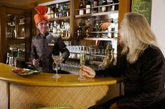 Enjoying the fine spirit in the Safari Bar, a place to relax and socialize on board Maharajas Express Pullman Train, Train Tour, India Tour, Train Travel, India Travel, Incredible India, Places To See, Safari, Photo Galleries