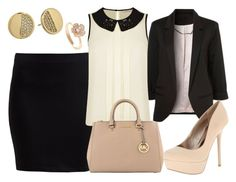 Office Outfit by deedee-pekarikhihiha on Polyvore featuring polyvore, fashion, style, Darling, Zalando, Qupid, MICHAEL Michael Kors, Kate Spade, michaelkors, office, nudepumps, officestyle and similiarsets