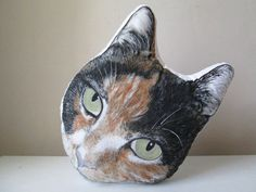 personalized gift idea for cat lovers cat portrait pet plush hand drawn colored cat pillow look alike replica cushion