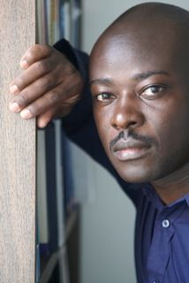 """GOG! 2008 guest author, Helon Habila.  """"'Helon Habila writes with intelligence and admirable narrative economy. Measuring Time, his disturbing tale of brotherhood, mixed fortunes, famine, bigotry and history  in rural Nigeria, is elegant, and heartfelt, and commanding.""""  by Jim Crace (clic pic to his website)"""