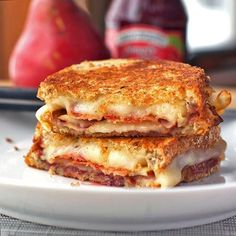 Bacon, Pear  Raspberry Grilled Cheese