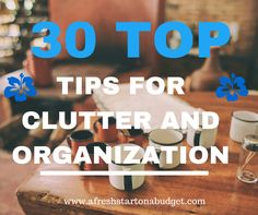 30 top tips for clutter and organization - pin now to read later ; How To Be More Organized, Getting Organized, Organization Station, Storage Organization, Storage Ideas, Clutter Free Home, Declutter Your Life, Keep It Cleaner, Clean House