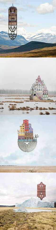 Architectural Collages by Matthias Jung