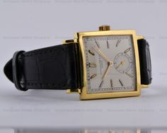 European Watch Company: Patek Philippe Vintage Square 18K Yellow Gold Circa 1945