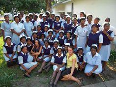 Lianne Jones and Jessica Barker taught nursing students at the Zambian Enrolled Nursing (ZEN) school in mongu.