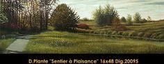 Sentier a Plaisance Vineyard, Painting, Outdoor, Art, Pathways, Outdoors, Painting Art, Paintings, Kunst