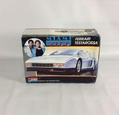 Miami Vice Ferrari Testarossa 1:24 Scale Model Monogram Partially Completed Box  #Monogram