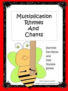 Theses fun multiplication rhymes and chants will be a great activity for your classroom.  Kids will love them!