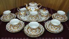 Meissen Antique Porcelain Floral and Gold Decorated Tea Set Antique Tea Sets, Baroque, Decorative Plates, Porcelain, Miniatures, Antiques, Floral, Gold, Antiquities