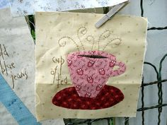 Cup of Tea Quilt Square Inspiration