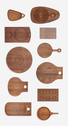 Teak Kitchen Boards, c1960.: