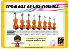 Medidas de los violines según edad y tamaño Musical, Conservatory
