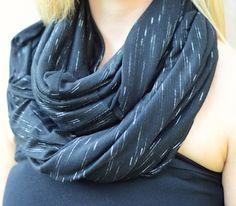 Infinity Scarf - Black by Art & Soul Boutique  www.ArtandSoulBoutique.com