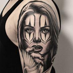 Payasa Black & Grey Tattoo Portrait Tattoos, Black And Grey Tattoos, Black And Gray Tattoos
