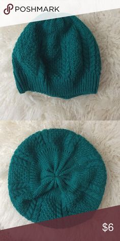Teal beanie Teal beanie from Charlotte Russe. Worn once. Charlotte Russe Accessories Hats
