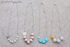 Sarah Ortega: diy {asymmetrical necklace}