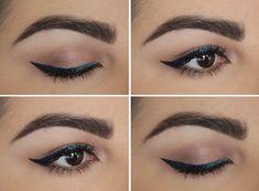 ombre liquid eyeliner teal navy black urban decay sabbath siren makeup look fotd