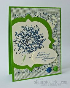 Blooming with Kindness and Window Framelits by patstamps2001 - Cards and Paper Crafts at Splitcoaststampers